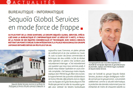 [REVUE DE PRESSE] SEQUOÏA GLOBAL SERVICES EN MODE FORCE DE FRAPPE